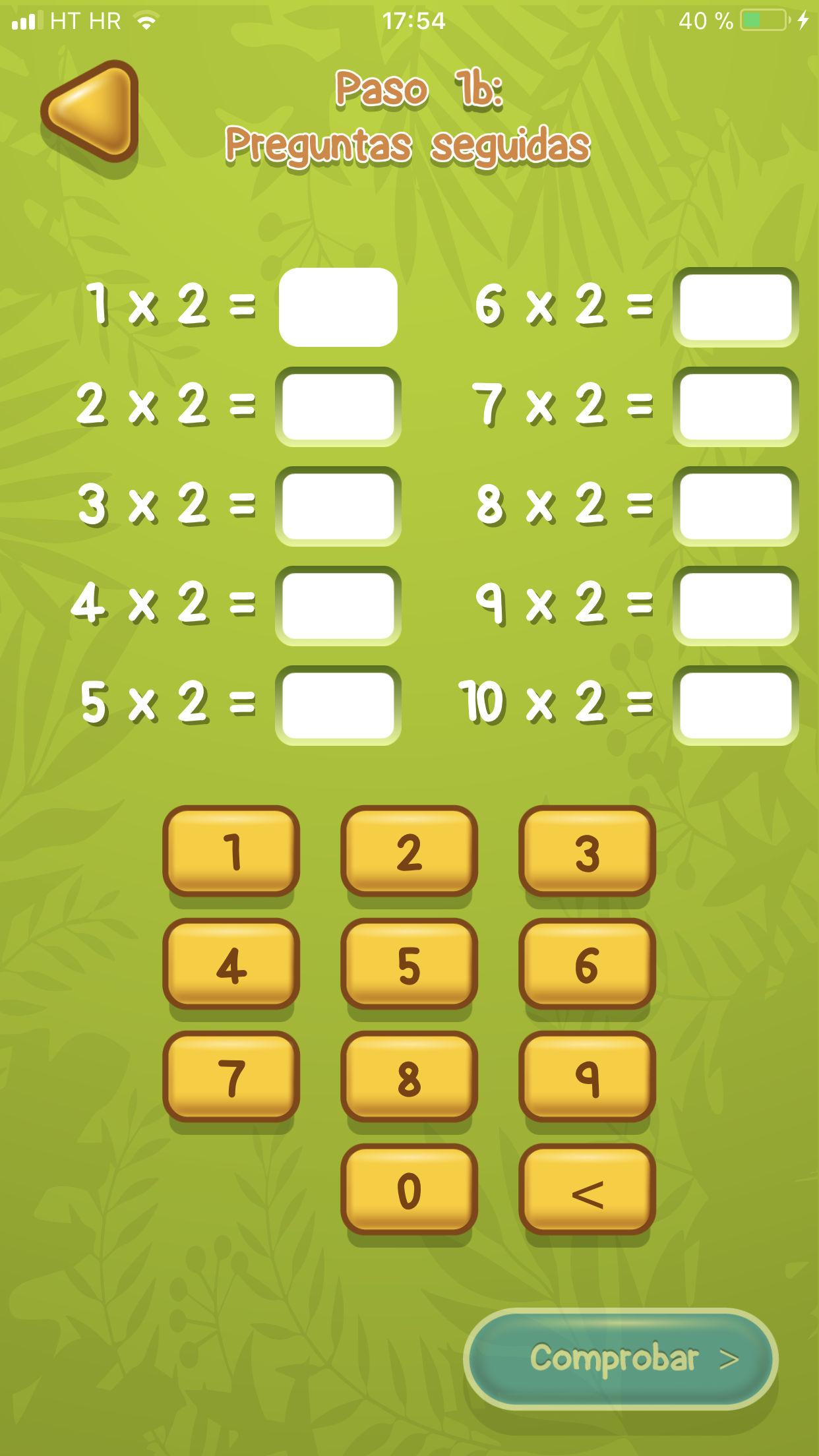 Tablas de multiplicar ejemplo 3